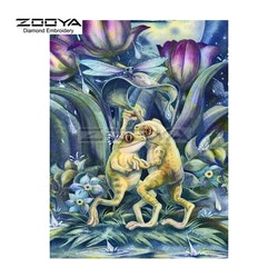 Diamanttavla Dancing Frogs 30x40