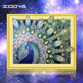 Diamanttavla Special Beautiful Peacock 40x50