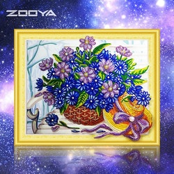 Diamanttavla Special Flowerbasket 40x50