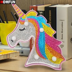 Diamanttavla Ledlampa Big Unicorn 18x14 cm