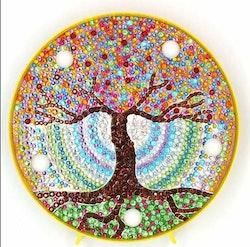 Diamanttavla Ledlampa Tree Of Life