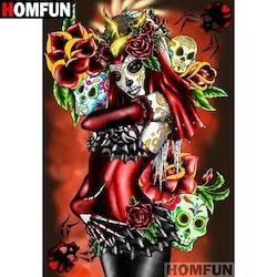 SNART I BUTIK  - Diamanttavla Skull Woman 40x50