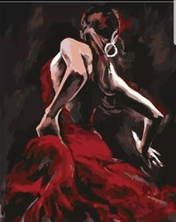 Paint By Numbers Senorita Dancing 40x50