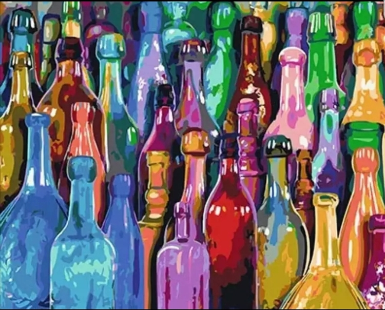 Paint By Numbers Bottles 40x50
