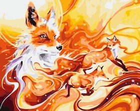 Paint By Numbers Foxes 40x50