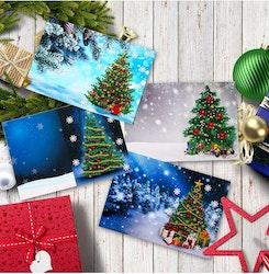 4-Pack Julkort Christmas 13x18 cm