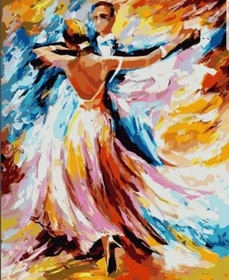 Paint By Numbers Color Dancing Couple 40x50