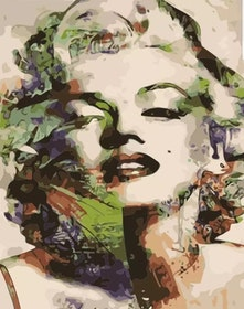 Paint By Numbers Marilyn Monroe Green 40x50