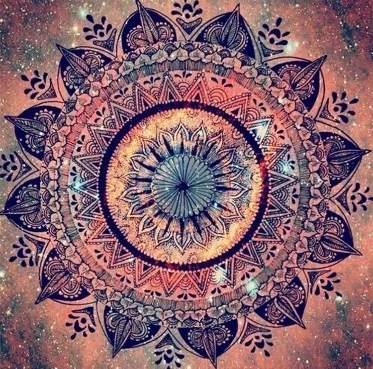 Diamanttavla Mandala Amazing 50x50