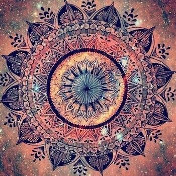 Diamanttavla Mandala Amazing 50x50 - Leveranstid 1-3 Dagar