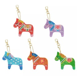 Nyckelring Hästar 5 pack