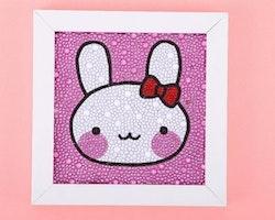 Diamanttavla Med Ram Rabbit 15x15