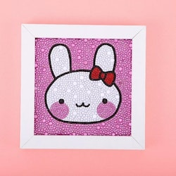 Diamanttavla Med Ram Rabbit 15x15