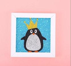 Diamanttavla Med Ram Pingvin 15x15
