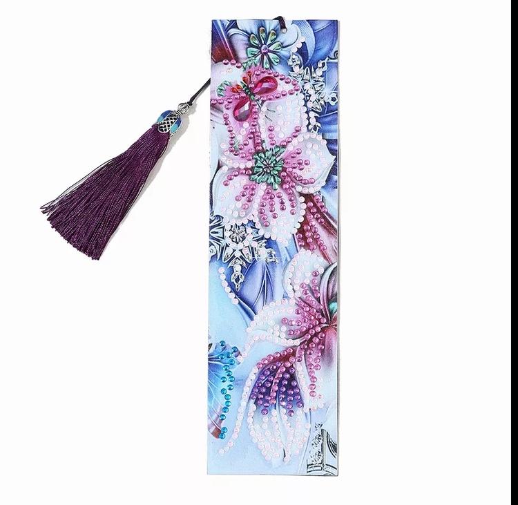 Bokmärke Pink Flowers 21 cm