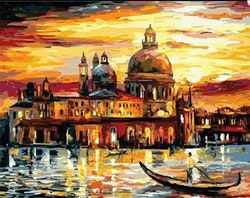 Paint By Numbers City By Lake 40x50