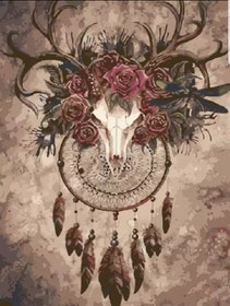 Paint By Numbers Deer Skull 40x50