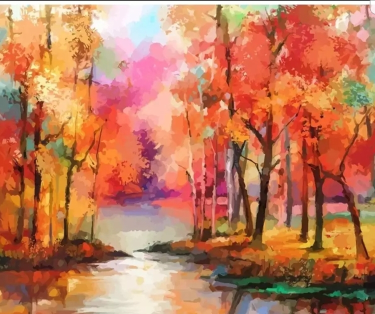 Paint By Numbers Colorful Nature 40x50