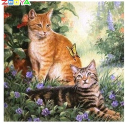 Diamanttavla Summercats 40x40