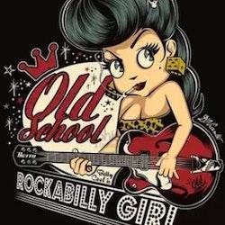 Diamanttavla Rockabilly Girl 40x50