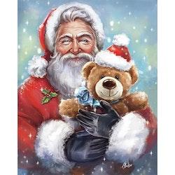 Diamanttavla Santa With Teddybear