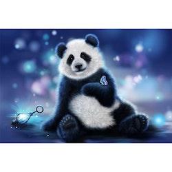 Diamanttavla (R) Panda With Butterfly 40x60