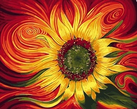 Paint By Numbers Colorful Sunflower 40x50