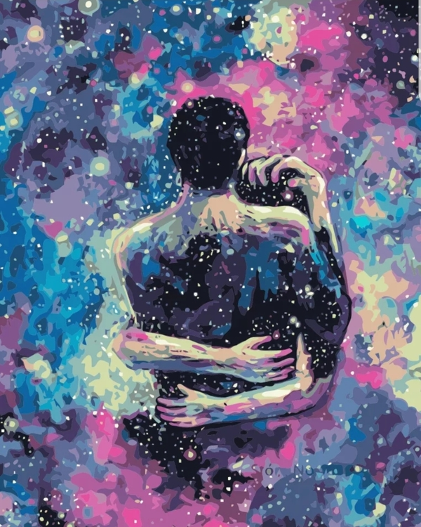 Paint By Numbers Galaxy Love 40x50