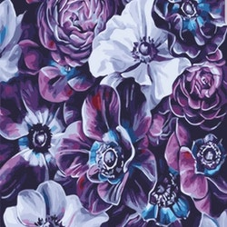 Paint By Numbers Purple Flowers 40x50