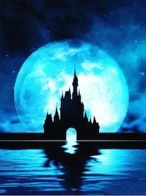 SNART I BUTIK - Diamanttavla Moon Castle 40x50