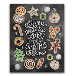 Diamanttavla Christmad Cookies 40x50