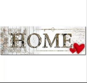 Diamanttavla Home Two Hearts 40x120