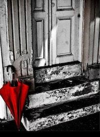 Diamanttavla Red Umbrella 40x50