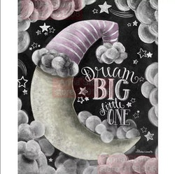 Diamanttavla Dream Big Rosa 40x50