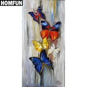 Diamanttavla Painted Butterfly 30x60