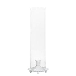 Cylinder Lanterna Vit 10x32 cm