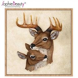 Diamanttavla Two Deers 40x40