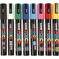 Posca Marker Spets 2,5 mm PC-5M Standardfärger Medium 8 St