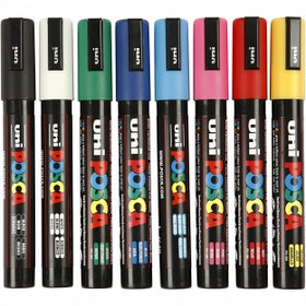 Posca Marker Spets 2,5 mm PC-5M Standardfärger Medium 8 St