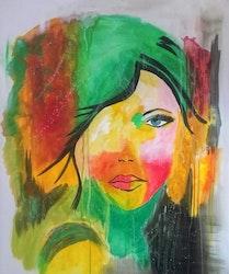 Diamanttavla Face Color 40x50 Kollektion Av Annelie Johansson