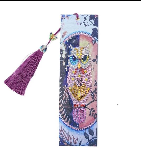 Bokmärke Pink Owl 21x6 cm