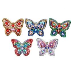 Nyckelringar Sparkling Butterfly 5 Pack