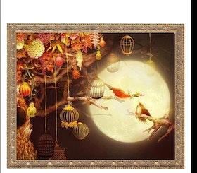 Diamanttavla Fantasia Birdcages 40x50