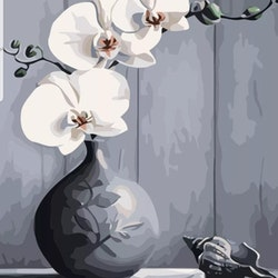 Paint By Numbers Orchid And Shell 40x50