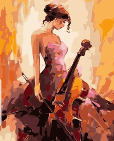 Paint By Numbers Woman With Cello 40x50