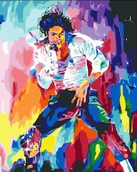 Paint By Numbers King Of Pop 40x50