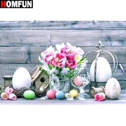 Diamanttavla Easter Flower 50x70