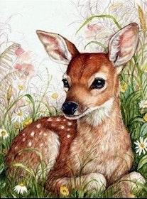 Diamanttavla Little Baby Deer 40x30