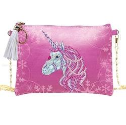 Diamanttavla Väska I Konstläder Unicorn 15x20 cm