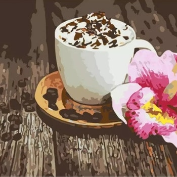 Paint By Numbers Coffee Orchid 40x50
